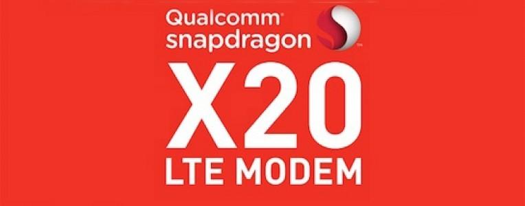 高通发布第二代千兆LTE芯片骁龙X20:下载速率1.2Gbps!