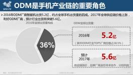 """2017手机ODM市场研究:订单向""""头部""""集中,海外市场将成新增长点"""