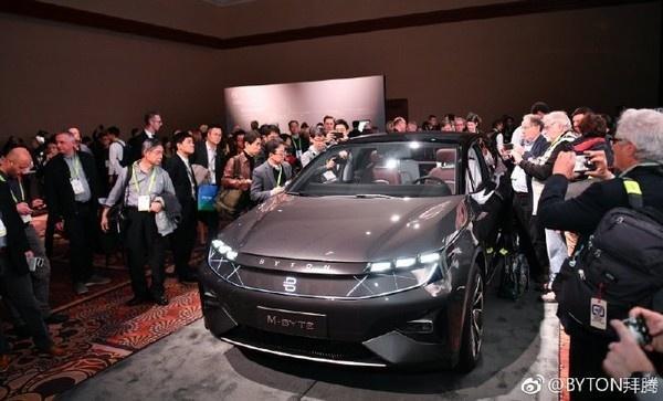 拜腾M-Byte量产车亮相CES2019,目标今年年底量产!-芯智讯