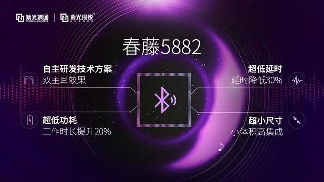紫光展锐推出超低功耗TWS真无线蓝牙耳机芯片—春藤5882,双耳工作时长提高20%!-芯智讯