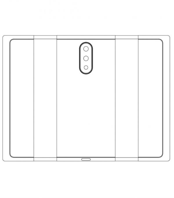 小米可折叠屏手机专利曝光:双折叠设计,后置三摄-芯智讯